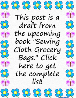 sewing cloth grocery bags