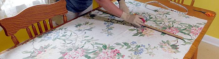 cutting tote bag fabric